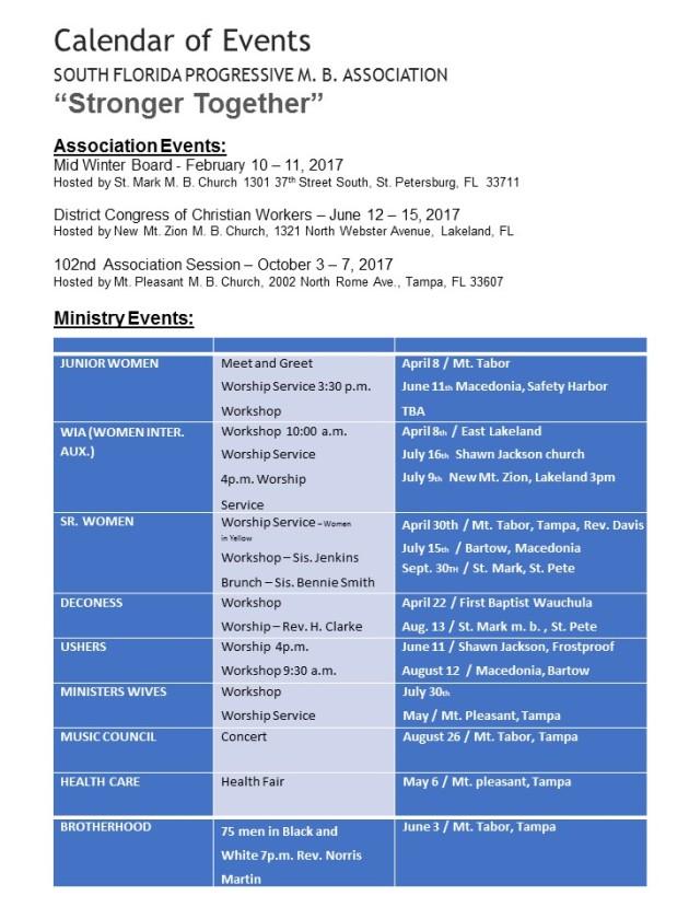 Association Calendar power point